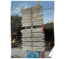 Kalymnos Greek Island direction Poster