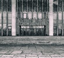 Building Entrance and Small Snow Flurry by NeonAbstracts