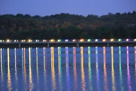 Lights On The Bridge by Linda Miller Gesualdo