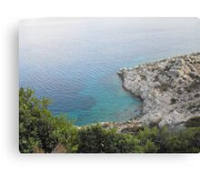 Kalymnos Greek Island Sea shore 1 #photography Canvas Print