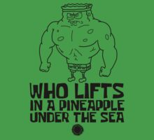 Spongebob - Who Lifts - Black One Piece - Short Sleeve