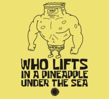 Spongebob - Who Lifts - Black One Piece - Short Sleeve