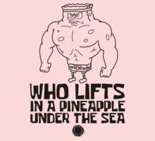 Spongebob - Who Lifts - Black One Piece - Long Sleeve