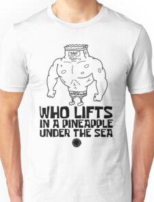 Spongebob - Who Lifts - Black Unisex T-Shirt