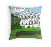 General Petraeus scandal cartoon Throw Pillow