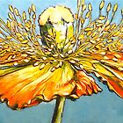 Blue poppy. Oil on canvas 2012 122x41cm. SOLD by Elizabeth Moore Golding