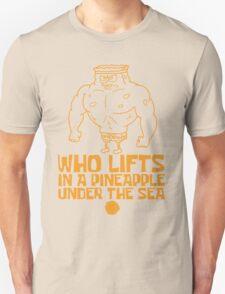 Spongebob - Who Lifts - Yellow Unisex T-Shirt