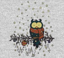 Owl in the snow v2 Kids Clothes