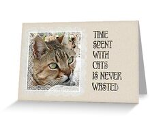 Time Spent With Cats Is Never Wasted Greeting Card Greeting Card