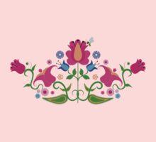 Bright Colorful Floral Design #1 Kids Clothes