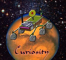 Curiosity the Mars Science Laboratory iPad case by Dennis Melling