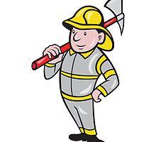 Fireman Firefighter Emergency Worker  by patrimonio