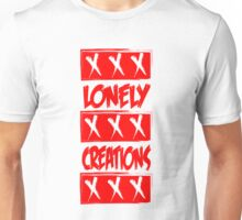 LONELY CREATIONS TRIPLE X RED Unisex T-Shirt