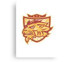 Lion Mascot Head Shield   Canvas Print