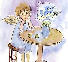 Spring Dreamer Angel by DinaArt