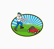 Lawn Mower Man Gardener Cartoon  Unisex T-Shirt