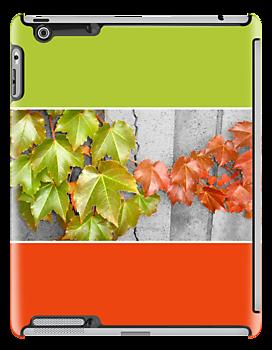 """Splitting Season"" iPad case by Mui-Ling Teh"
