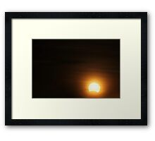 Solar Eclipse - November 14 2012 Framed Print