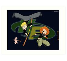 Kim Possible Flow Arts Art Print
