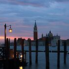 San Giorgio Maggiore just before dawn by kirilart