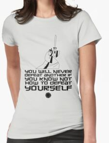 Samurai Jack - Defeat Yourself - Black Womens Fitted T-Shirt
