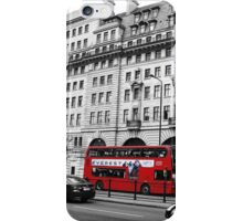 London Bus Travels iPhone Case/Skin