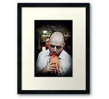 hunger to kill. Framed Print