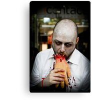 hunger to kill. Canvas Print