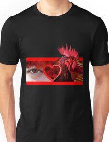 Eye Heart Rooster (I Love Cock) Unisex T-Shirt