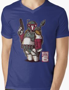 BIG BOBA 6 Mens V-Neck T-Shirt