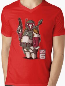 BIG BOBA 6 Mens V-Neck T-Shirt