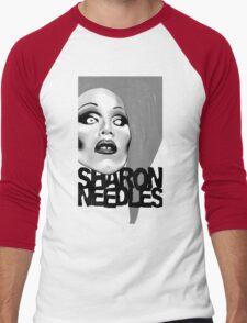 Sharon Needles Black and White Men's Baseball ¾ T-Shirt