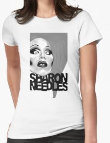 Sharon Needles Black and White Womens Fitted T-Shirt