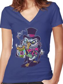 HUNTING THE BAT Women's Fitted V-Neck T-Shirt