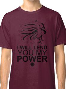 Kurama - I Will Lend You My Power - Black Classic T-Shirt
