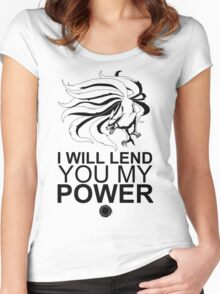 Kurama - I Will Lend You My Power - Black Women's Fitted Scoop T-Shirt
