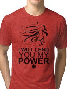 Kurama - I Will Lend You My Power - Black Tri-blend T-Shirt