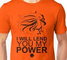 Kurama - I Will Lend You My Power - Black Unisex T-Shirt