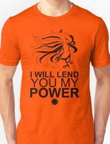 Kurama - I Will Lend You My Power - Black T-Shirt