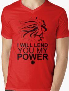 Kurama - I Will Lend You My Power - Black Mens V-Neck T-Shirt