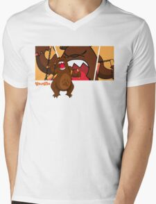 Foe Grizzle with Logo Mens V-Neck T-Shirt