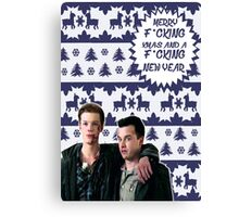 Merry F*cking Christmas [[Gallavich]] II Canvas Print