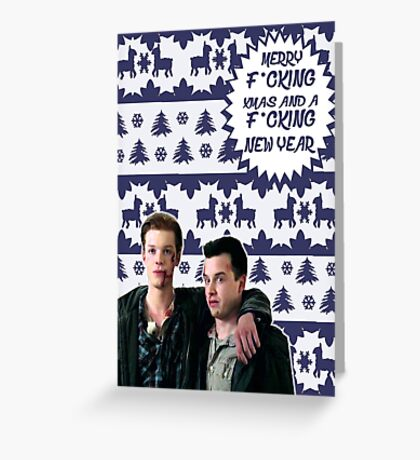 Merry F*cking Christmas [[Gallavich]] II Greeting Card