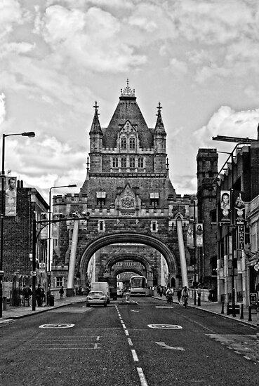 Looking at The Tower Bridge - London by A.David Holloway