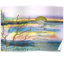 NORTHAM BURROWS SUNSET Poster