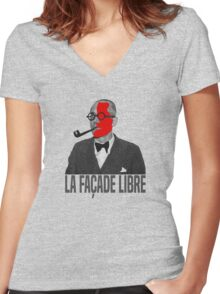 La Façade Libre Women's Fitted V-Neck T-Shirt