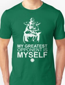 Picollo - My Greatest Opponent Is Myself - White T-Shirt