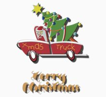 Xmas Truck - Merry Christmas T-shirt Kids Clothes