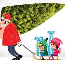 Buying a Christmas Tree by drawgood