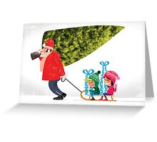 Buying a Christmas Tree Greeting Card